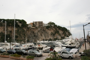 Luxury yachts docked at Fontvieille