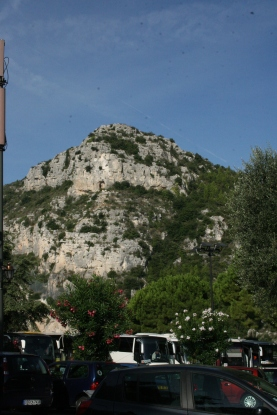 View of Éze village from the carpark