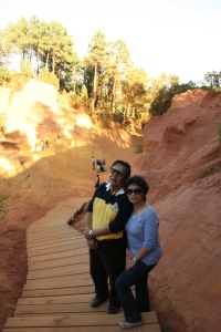 Mum and dad conquering the ochre trail