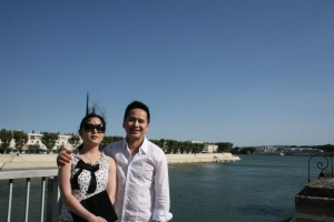 On the banks of the Rhône river