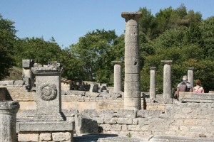 The remains of the Roman town of Glanum
